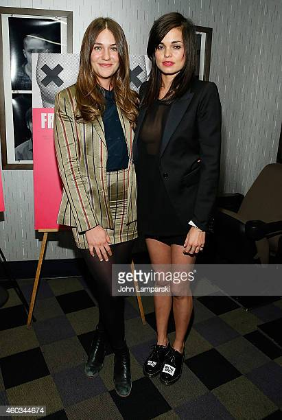 Actress Lola Kirke and Director Lina Esco attend 'Free The Nipple' New York Premiere at IFC Center on December 11 2014 in New York City