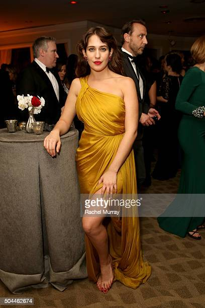 Actress Lola Kirke attends Amazon's Golden Globe Awards Celebration at The Beverly Hilton Hotel on January 10 2016 in Beverly Hills California