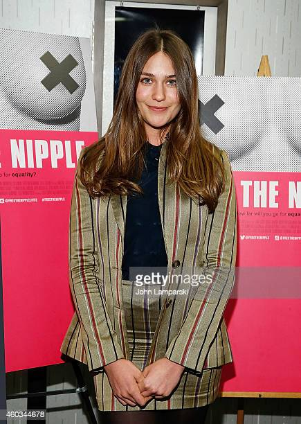 Actress Lola Kirke attends 'Free The Nipple' New York Premiere at IFC Center on December 11 2014 in New York City