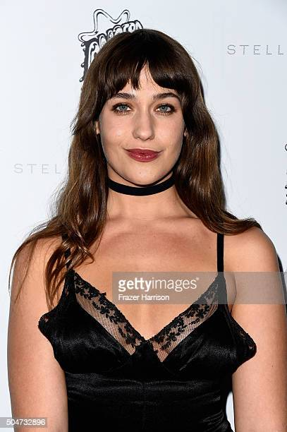 Actress Lola Kirke attends Stella McCartney Autumn 2016 Presentation at Amoeba Music on January 12 2016 in Los Angeles California