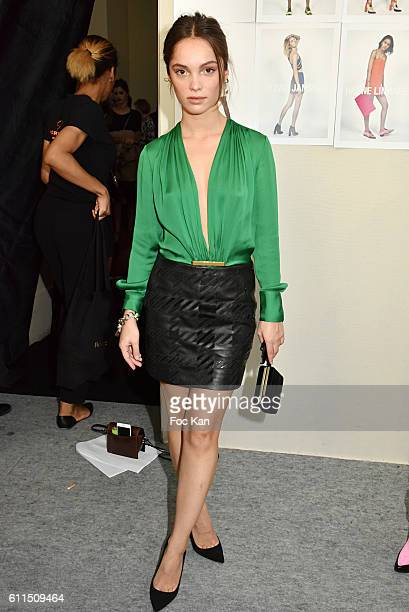 Actress Lola Le Lann attends the Barbara Bui show as part of the Paris Fashion Week Womenswear Spring/Summer 2017 on September 29 2016 in Paris France