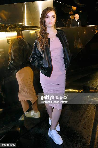 Actress Lola Le Lann attends the HM Studio show as part of the Paris Fashion Week Womenswear Fall/Winter 2016/2017 on March 2 2016 in Paris France