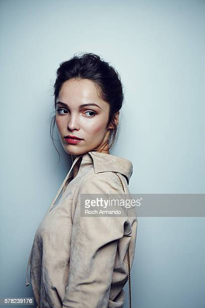 Actress Lola Le Lann is photographed for Self Assignment on June 21 2015 in Cabourg France