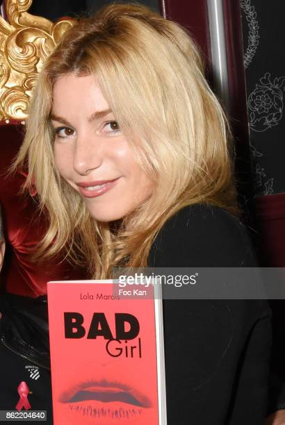 Actress Lola Marois attends the 'Souffle de Violette' Auction Party As part of 'Octobre Rose' Hosted by Ereel at Fidele Club on October 16 2017 in...