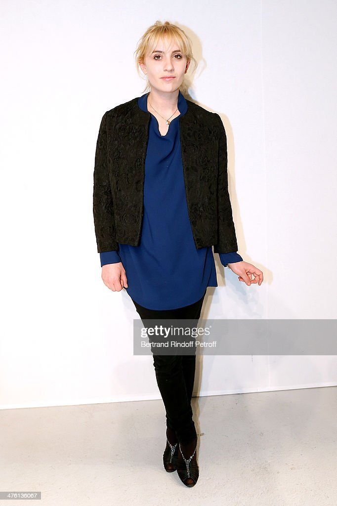 Actress Lolita Chammah attends the John Galliano show as part of the Paris Fashion Week Womenswear Fall/Winter 2014-2015 on March 2, 2014 in Paris, France.