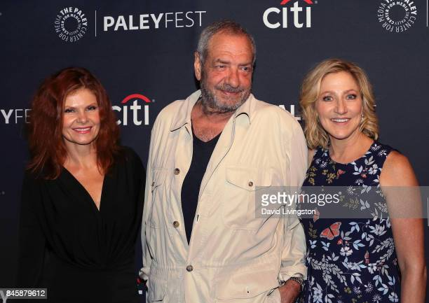 Actress Lolita Davidovich executive producer Dick Wolf and actress Edie Falco attend The Paley Center for Media's 11th Annual PaleyFest fall TV...