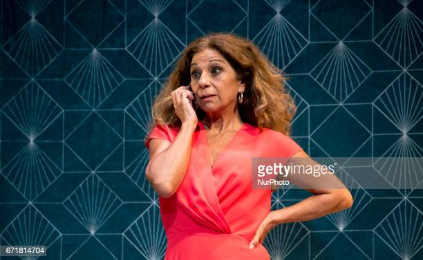Actress Lolita Flores attends to Graphic Pass of Prefiero que seamos amigos in Madrid on April 18 2017