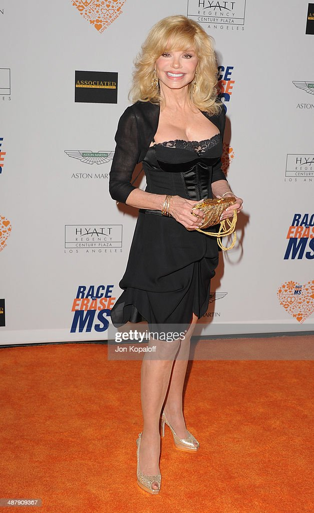 Actress Loni Anderson arrives at the 21st Annual Race To Erase MS Gala at the Hyatt Regency Century Plaza on May 2, 2014 in Century City, California.