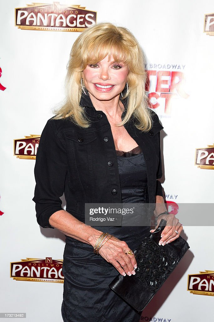 Actress <a gi-track='captionPersonalityLinkClicked' href=/galleries/search?phrase=Loni+Anderson&family=editorial&specificpeople=212933 ng-click='$event.stopPropagation()'>Loni Anderson</a> attends the Los Angeles Show Premiere of 'Sister Act' at the Pantages Theatre on July 9, 2013 in Hollywood, California.