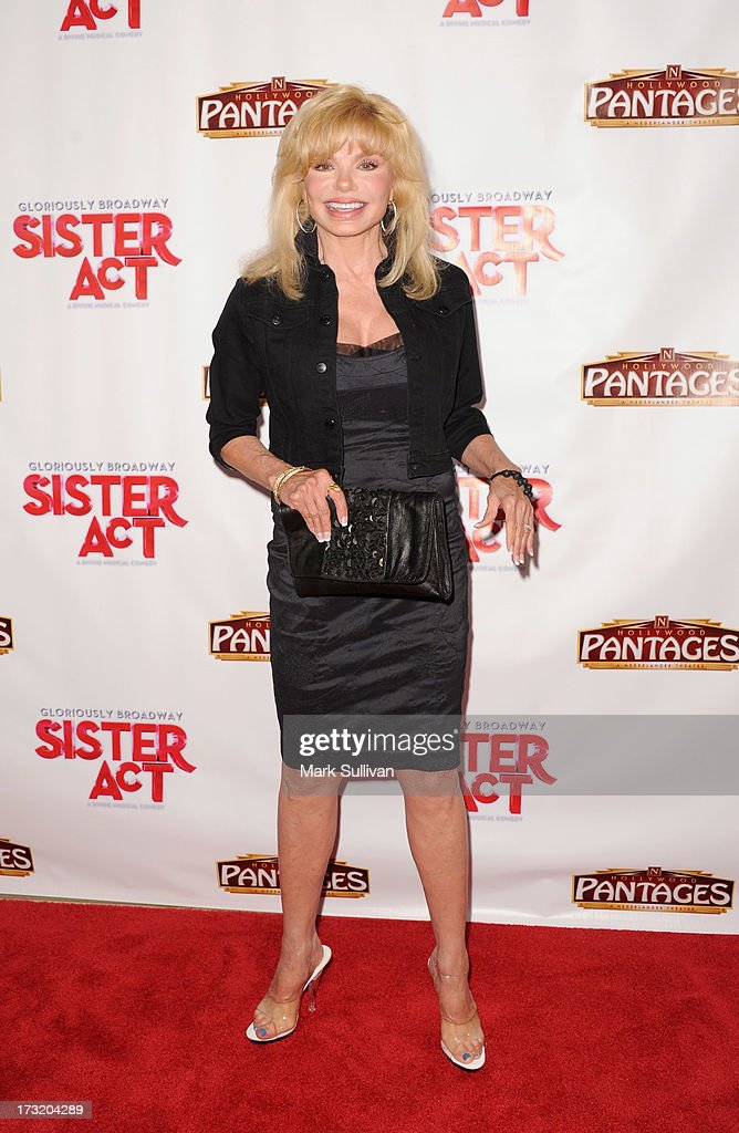 Actress <a gi-track='captionPersonalityLinkClicked' href=/galleries/search?phrase=Loni+Anderson&family=editorial&specificpeople=212933 ng-click='$event.stopPropagation()'>Loni Anderson</a> attends the premiere of 'Sister Act' at the Pantages Theatre on July 9, 2013 in Hollywood, California.