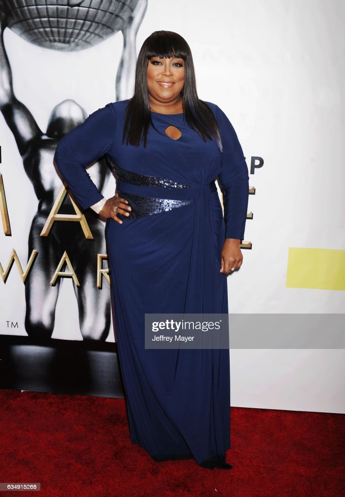 Actress Loni Love arrives at the 48th NAACP Image Awards at Pasadena Civic Auditorium on February 11, 2017 in Pasadena, California.