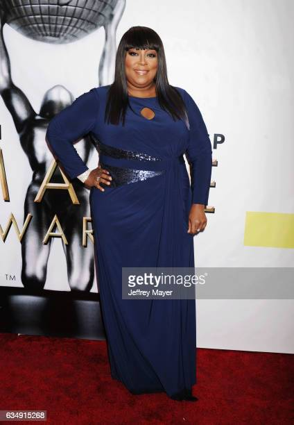 Actress Loni Love arrives at the 48th NAACP Image Awards at Pasadena Civic Auditorium on February 11 2017 in Pasadena California