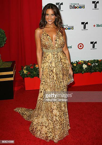 Actress Lorena Rojas attends the 2008 Billboard Latin Music Awards at the Seminole Hard Rock Hotel and Casino on April 10 2008 in Hollywood Florida
