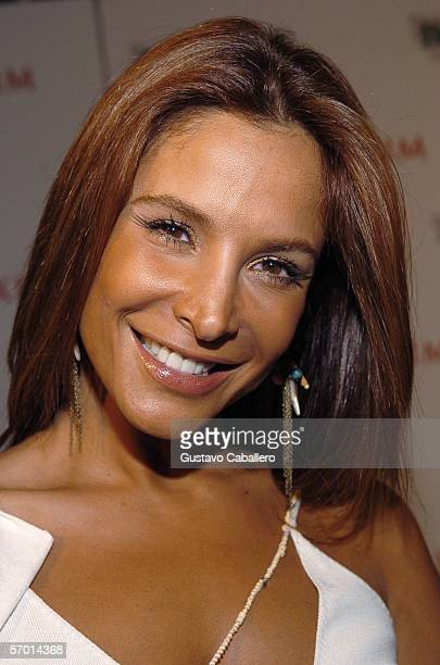 Actress Lorena Rojas poses at the Heineken Premium Light launch party at Casa Casuarina on March 6 2006 in Miami Beach Florida