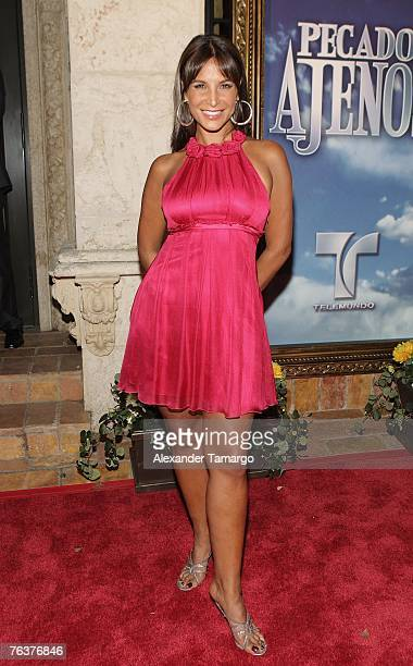 Actress Lorena Rojas poses during arrivals of the premiere of Telemundo's new novela 'Pecados Ajenos' on August 28 2007 in Coconut Grove Florida