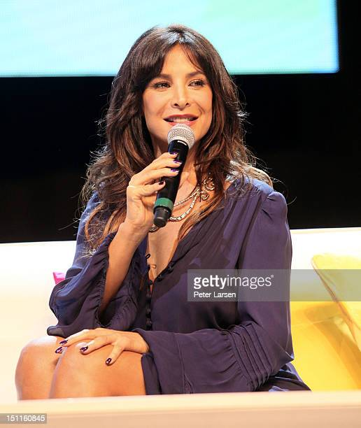 Actress Lorena Rojas speaks at the 'Surviving Against All Odds and Taking Control of her New Life' portion during People En Espanol's Festival 2012...