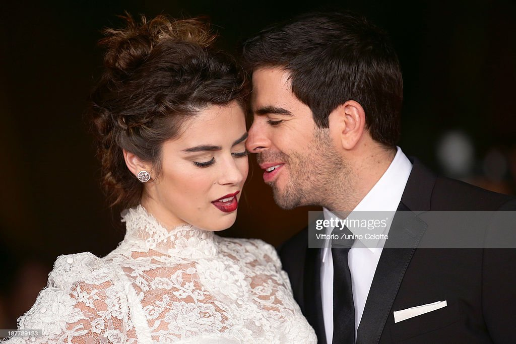 Actress <a gi-track='captionPersonalityLinkClicked' href=/galleries/search?phrase=Lorenza+Izzo&family=editorial&specificpeople=7050477 ng-click='$event.stopPropagation()'>Lorenza Izzo</a> and director <a gi-track='captionPersonalityLinkClicked' href=/galleries/search?phrase=Eli+Roth&family=editorial&specificpeople=543948 ng-click='$event.stopPropagation()'>Eli Roth</a> attend 'The Green Inferno' Premiere during The 8th Rome Film Festival at Auditorium Parco Della Musica on November 12, 2013 in Rome, Italy.