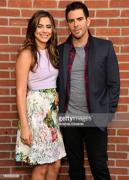 Actress Lorenza Izzo and Writer/Director Eli Roth arrive at 'The Green Inferno' Press Conference during the 2013 Toronto International Film Festival...