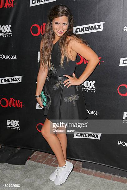 Actress Lorenza Izzo arrives at FOX International Studios' ComicCon Party Celebrating Robert Kirkman's New Drama 'Outcast' on July 9 2015 in San...