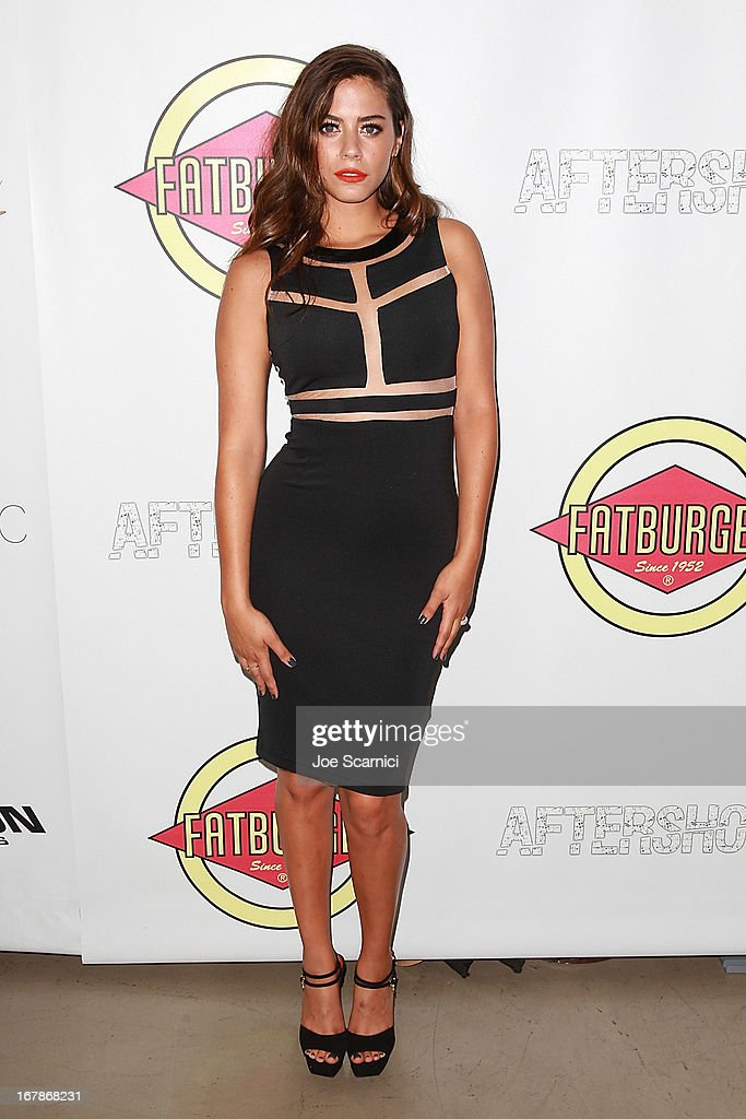Actress Lorenza Izzo arrives at the 'AFTERSHOCK' premiere presented by Dimension Films and RADiUS-TWC in partnership with Fatburger at on May 1, 2013 in Los Angeles, California.