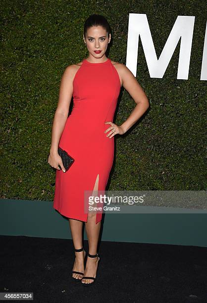 Actress Lorenza Izzo attends Claiborne Swanson Frank's Young Hollywood book launch hosted by Michael Kors at Private Residence on October 2 2014 in...