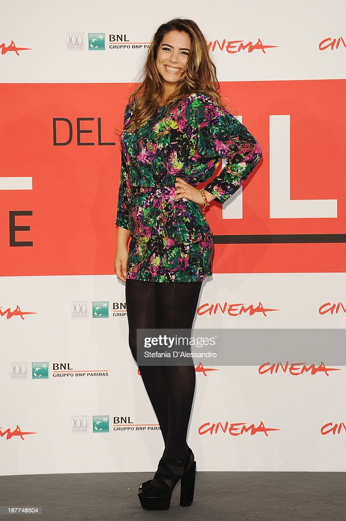 Actress <a gi-track='captionPersonalityLinkClicked' href=/galleries/search?phrase=Lorenza+Izzo&family=editorial&specificpeople=7050477 ng-click='$event.stopPropagation()'>Lorenza Izzo</a> attends the 'The Green Inferno' Photocall during the 8th Rome Film Festival at the Auditorium Parco Della Musica on November 12, 2013 in Rome, Italy.