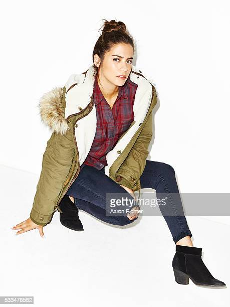 Actress Lorenza Izzo is photographed for Aritzia #FallForUs in 2014 in Los Angeles California PUBLISHED IMAGE