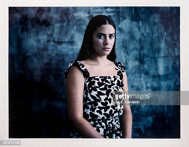 Actress Lorenza Izzo of 'The Green Inferno' is photographed on polaroid film at ComicCon International 2015 for Los Angeles Times on July 9 2015 in...