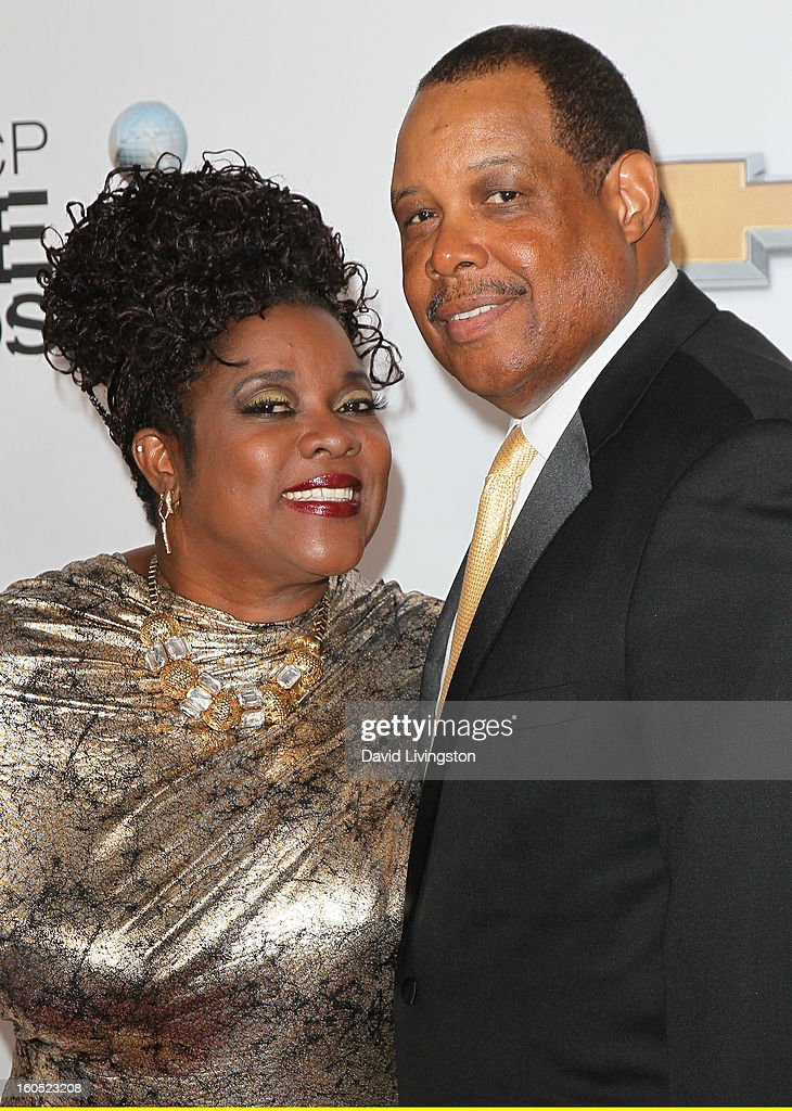 Actress Loretta Devine (L) and Glenn Marshall attend the 44th NAACP Image Awards at the Shrine Auditorium on February 1, 2013 in Los Angeles, California.