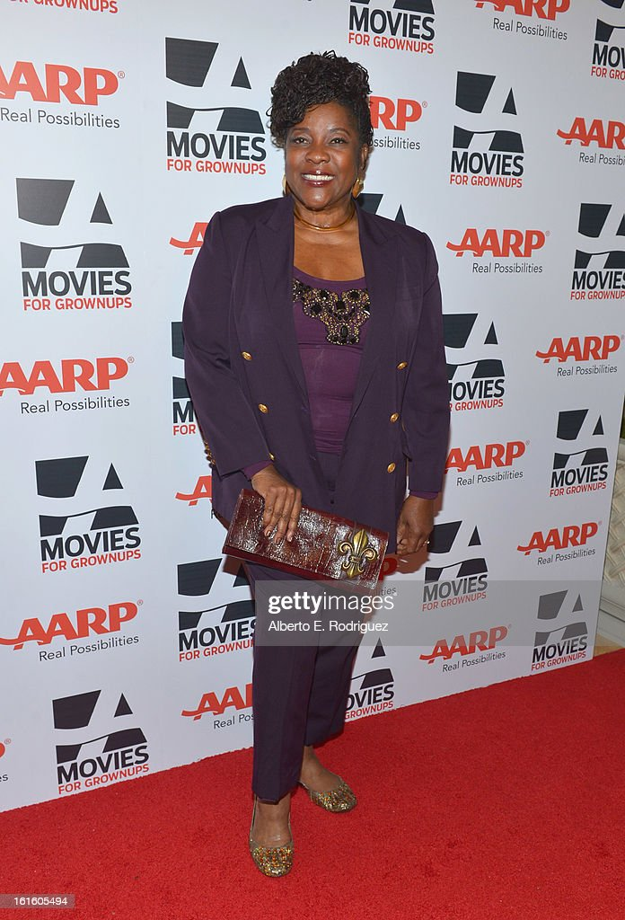 Actress Loretta Devine arrives to AARP The Magazine's 12th Annual Movies for Grownups Awards Luncheon at Peninsula Hotel on February 12, 2013 in Beverly Hills, California.