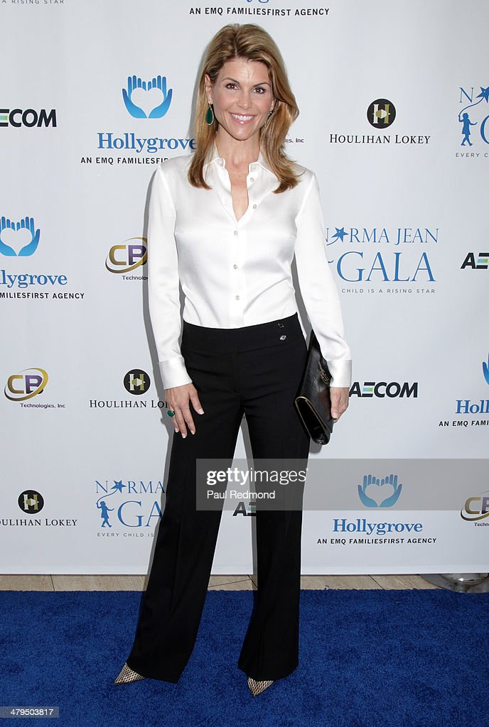 Actress Lori Laughlin arriving at the 2nd Annual Norma Jean Gala 2014 at The Paley Center for Media on March 18, 2014 in Beverly Hills, California.