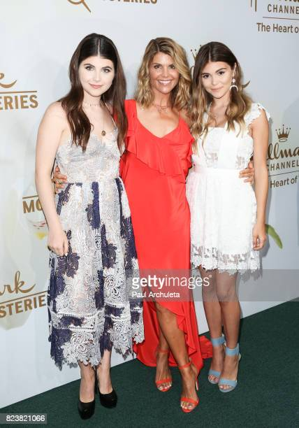 Actress Lori Loughlin and her daughters Isabella Rose and Olivia Jade Giannulli attend the Hallmark Channel And Hallmark Movies And Mysteries 2017...