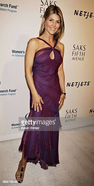 Actress Lori Loughlin arrives at EIF's Women's Cancer Research Fund honoring Melissa Etheridge at 'Saks Fifth Avenue's Unforgettable Evening' at the...