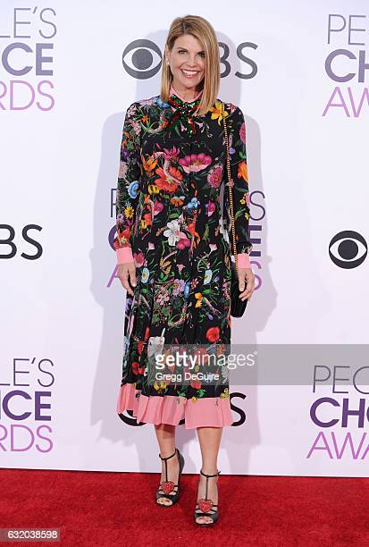 Actress Lori Loughlin arrives at the 2017 People's Choice Awards at Microsoft Theater on January 18 2017 in Los Angeles California