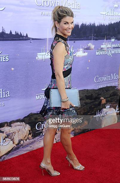 Actress Lori Loughlin arrives at the Hallmark Channel and Hallmark Movies and Mysteries Summer 2016 TCA Press Tour Event on July 27 2016 in Beverly...