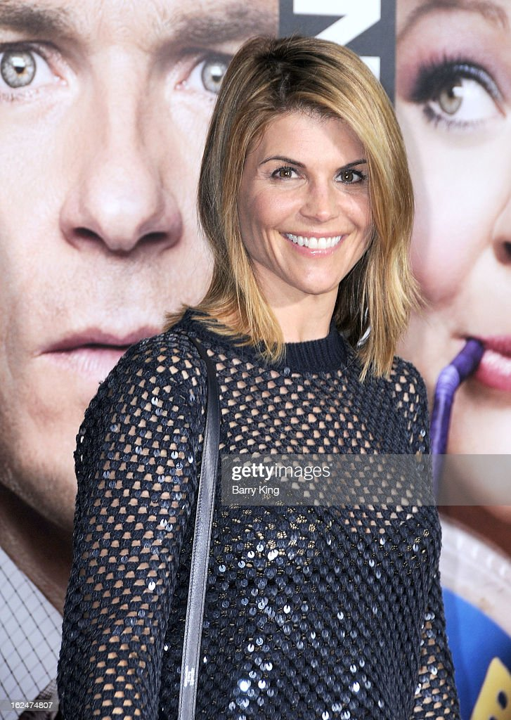 Actress <a gi-track='captionPersonalityLinkClicked' href=/galleries/search?phrase=Lori+Loughlin&family=editorial&specificpeople=208147 ng-click='$event.stopPropagation()'>Lori Loughlin</a> arrives at the Los Angeles premiere of 'Identity Thief' held at Mann Village Theatre on February 4, 2013 in Westwood, California.