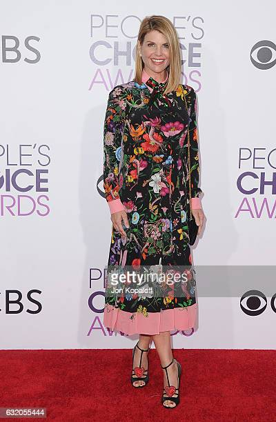 Actress Lori Loughlin arrives at the People's Choice Awards 2017 at Microsoft Theater on January 18 2017 in Los Angeles California