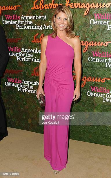 Actress Lori Loughlin arrives at the Wallis Annenberg Center For Performing Arts Inaugural Gala at Wallis Annenberg Center for the Performing Arts on...