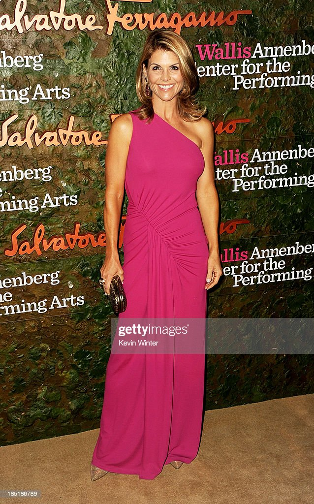 Actress Lori Loughlin arrives at the Wallis Annenberg Center For The Performing Arts Gala at the Wallis Annenberg Center For The Performing Arts on October 17, 2013 in Beverly Hills, California.