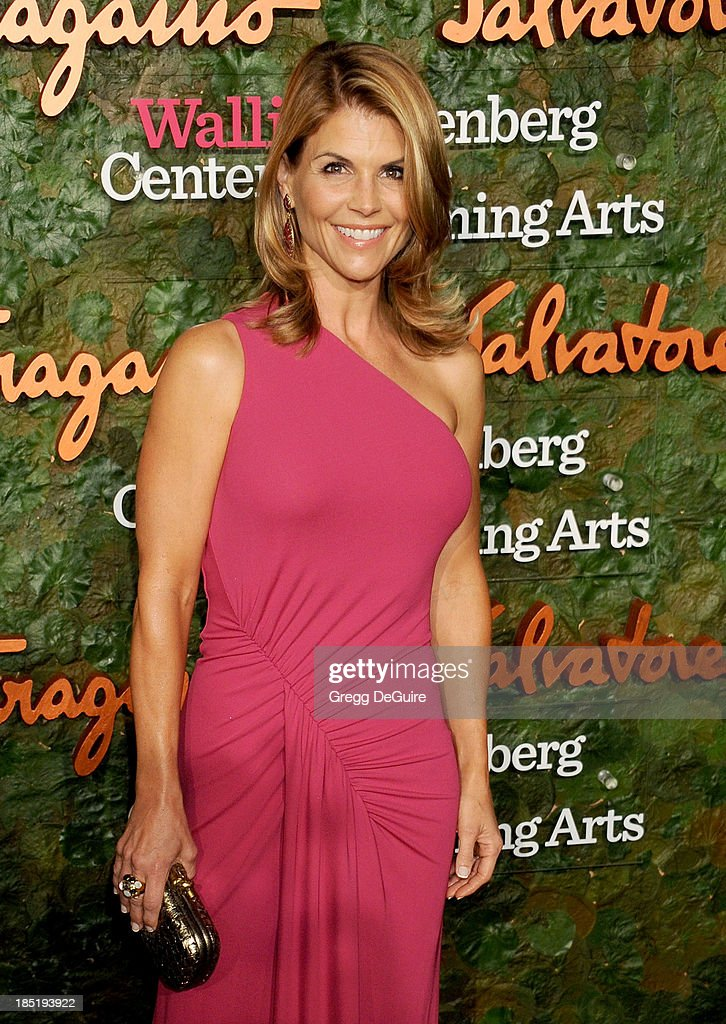 Actress Lori Loughlin arrives at the Wallis Annenberg Center For The Performing Arts Inaugural Gala at Wallis Annenberg Center for the Performing Arts on October 17, 2013 in Beverly Hills, California.