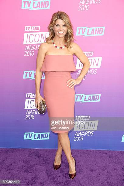 Actress Lori Loughlin attends 2016 TV Land Icon Awards at The Barker Hanger on April 10 2016 in Santa Monica California