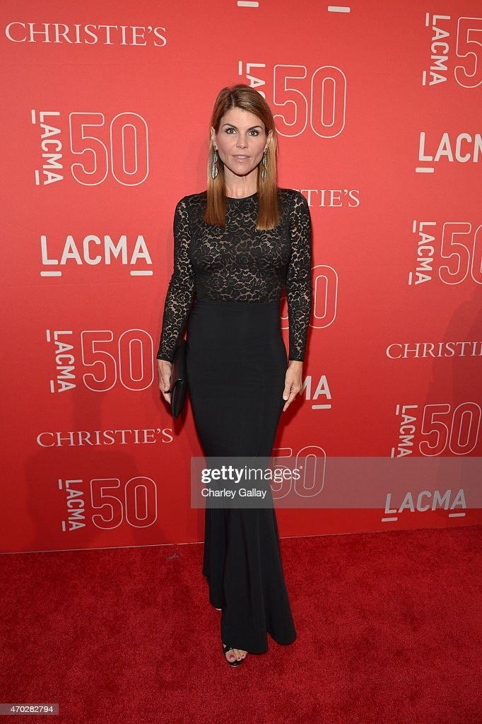 Actress Lori Loughlin attends the LACMA 50th Anniversary Gala sponsored by Christie's at LACMA on April 18 2015 in Los Angeles California