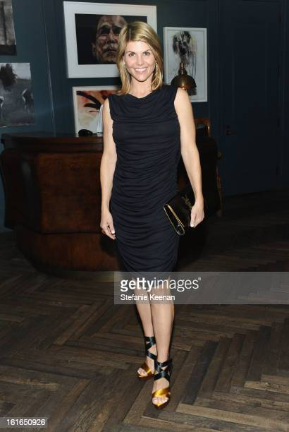 Actress Lori Loughlin attends Tommy Hilfiger New West Coast Flagship Opening After Party at a Private Club on February 13 2013 in West Hollywood...