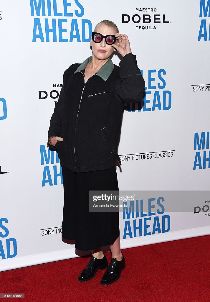 Actress Lori Petty arrives at the premiere of Sony Pictures Classics' 'Miles Ahead' at the Writers Guild Theater on March 29, 2016 in Beverly Hills, California.