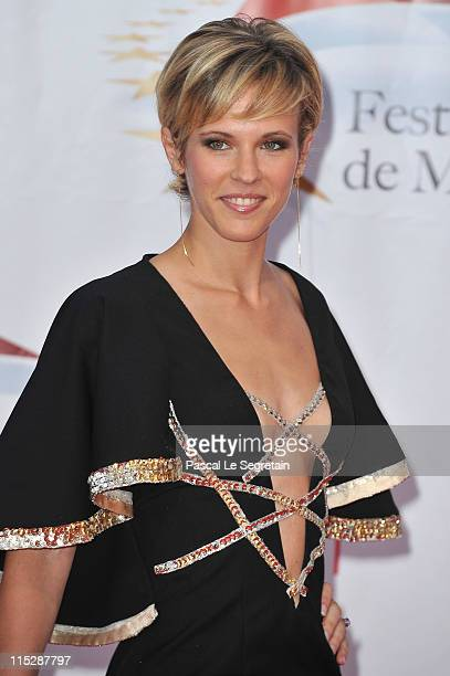 Actress Lorie arrives for the opening night of the 2011 Monte Carlo Television Festival held at Grimaldi Forum on June 6 2011 in MonteCarlo Monaco