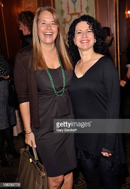 Actress Lorraine Bracco and event honoree actress Susie Essman attendthe 22nd annual Police Athletic League's Women of the Year luncheon at The...