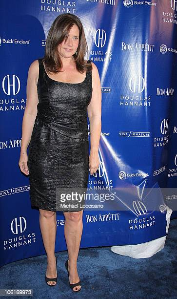 Actress Lorraine Bracco arrives to Douglas Hannant's Tenth Anniversary Celebration at The Bon Appetit Supper Club in New York City on October 26 2007