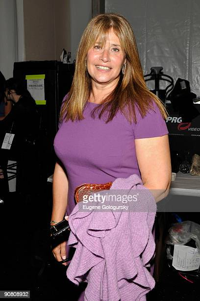 Actress Lorraine Bracco attends the Dennis Basso Spring 2010 during MercedesBenz Fashion Week at Bryant Park on September 15 2009 in New York City