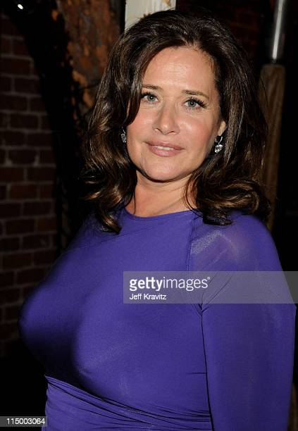 Actress Lorraine Bracco attends the HBO after party for the 14th Annual Screen Actor's Guild Awards at the Shrine Auditorium on January 27 2008 in...