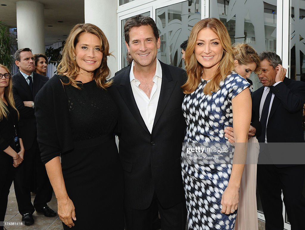 Actress Lorraine Bracco, Michael Wright, President, Head of Programming TNT, TBS & TCM and actress Sasha Alexander attend TNT 25TH Anniversary Party during Turner Broadcasting's 2013 TCA Summer Tour at The Beverly Hilton Hotel on July 24, 2013 in Beverly Hills, California.